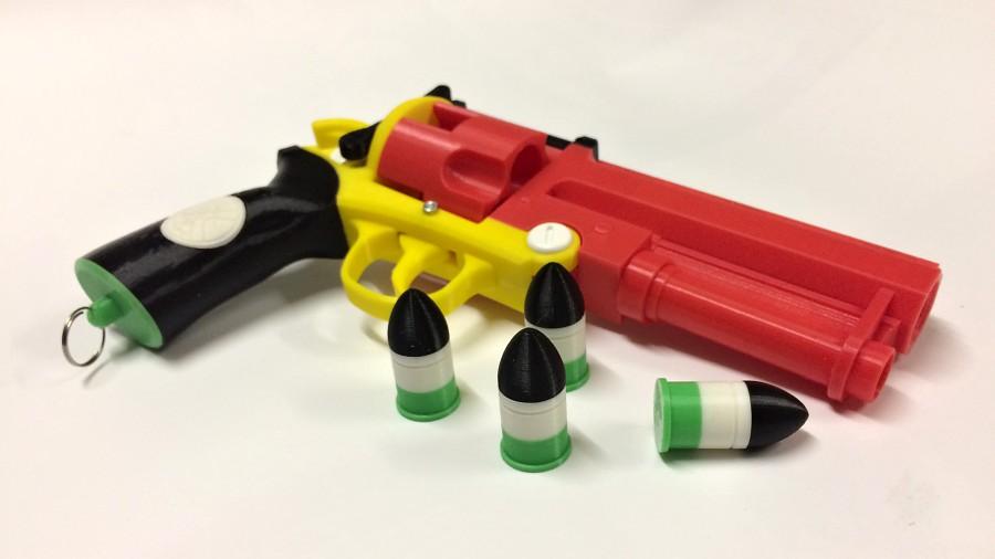 Pistole vytištěná na 3D tiskárně – samozřejmě nefunkční.